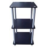 FUNIKA 3 Tier Mini Square Shelf [11213] - Black - Rak Mini